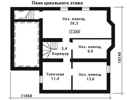 Проект дома 11,9×10,2 м. с двускатной крышей