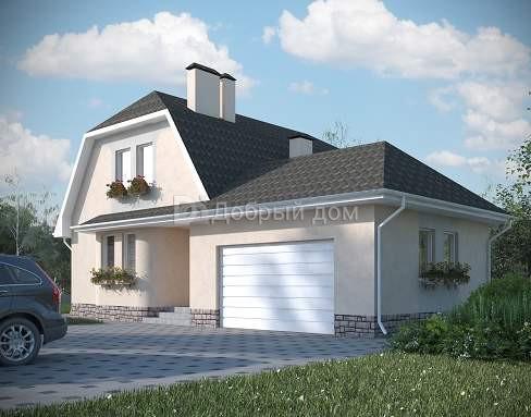 Проект дома 14×11,3 м. с мансардной крышей