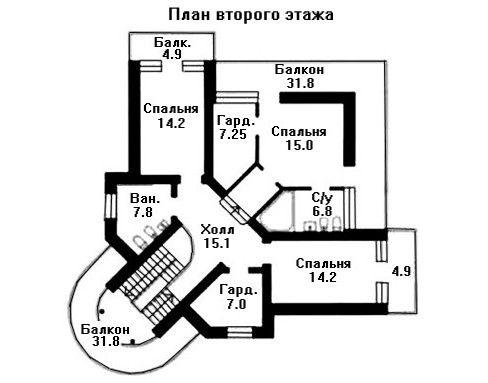 Проект дома 12,5×12,5 м. с односкатной крышей