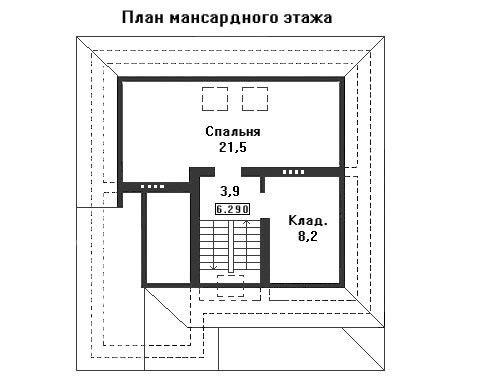 Проект дома 11,9×10,8 м. с четырехскатной крышей