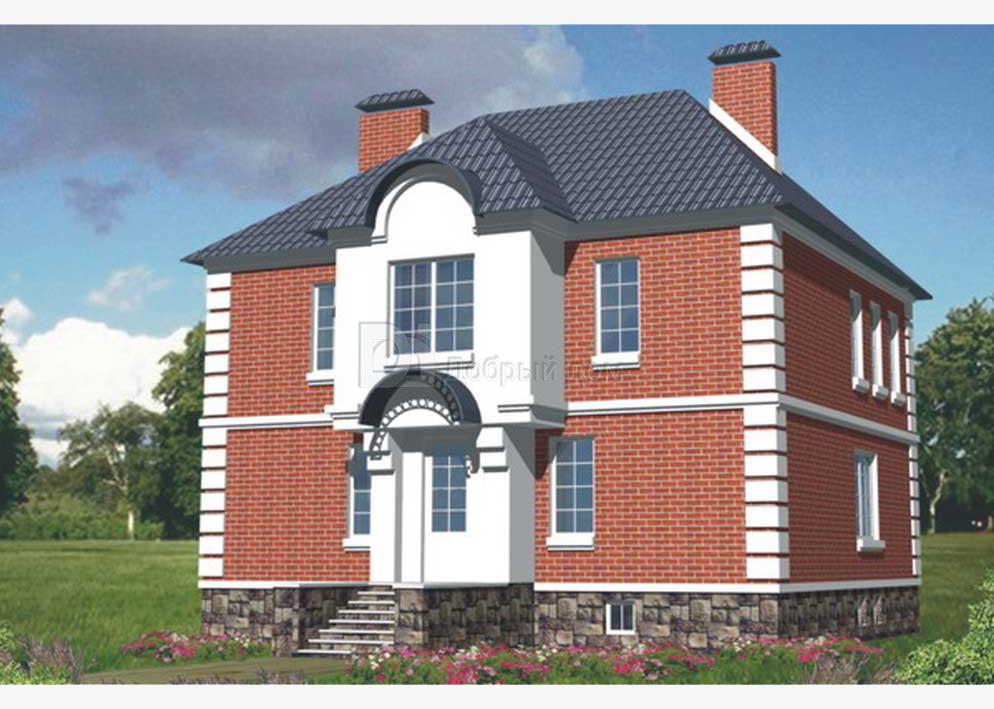 Дом 11,8×10,4 м. с четырехскатной крышей