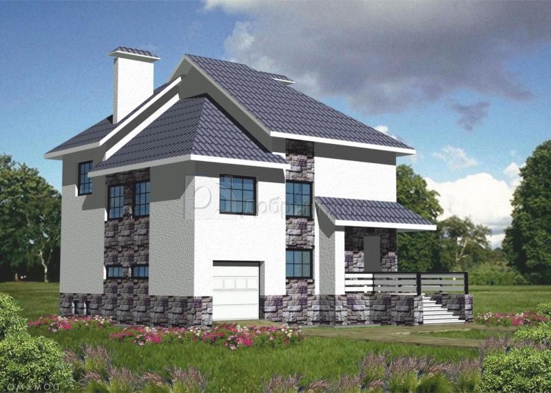 Дом 10,4×10,4 м. с четырехскатной крышей