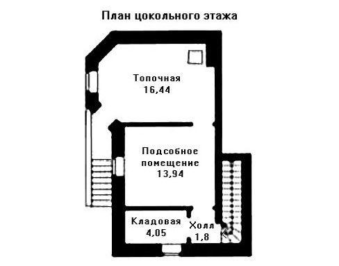 Дом 14,6×14,6 м. с мансардной крышей