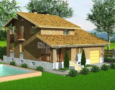 Проект дома 12×10,4 м. с двускатной крышей
