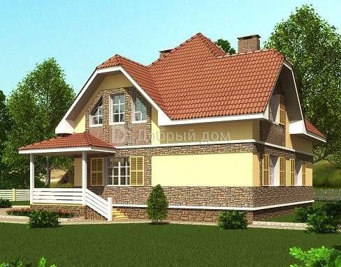 Дом 11,2×10,2 м. с мансардной крышей