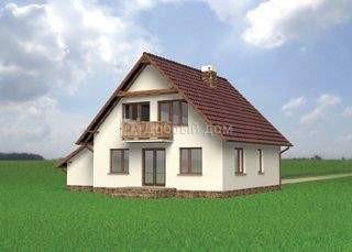 Проект дома 12,2×9,5 м. с двускатной крышей