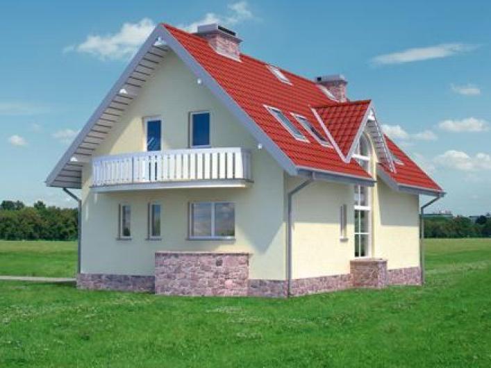Проект дома 12,1×7,7 м. с двускатной крышей