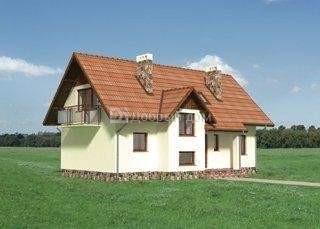 Проект дома 12,7×9,1 м. с мансардной крышей