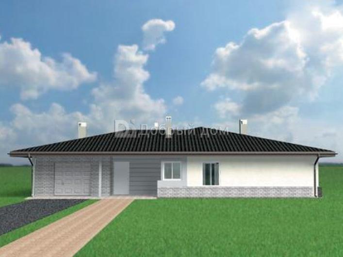 Дом 18,5×16,4 м. с четырехскатной крышей