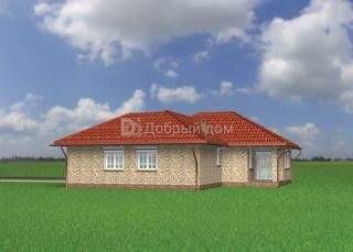 Дом 21,7×14,7 м. с четырехскатной крышей