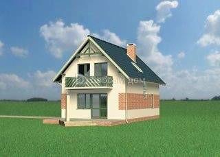 Проект дома 9,9×6,6 м. с двускатной крышей