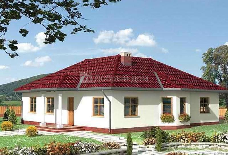 Проект дома 15,6×13,6 м. с четырехскатной крышей
