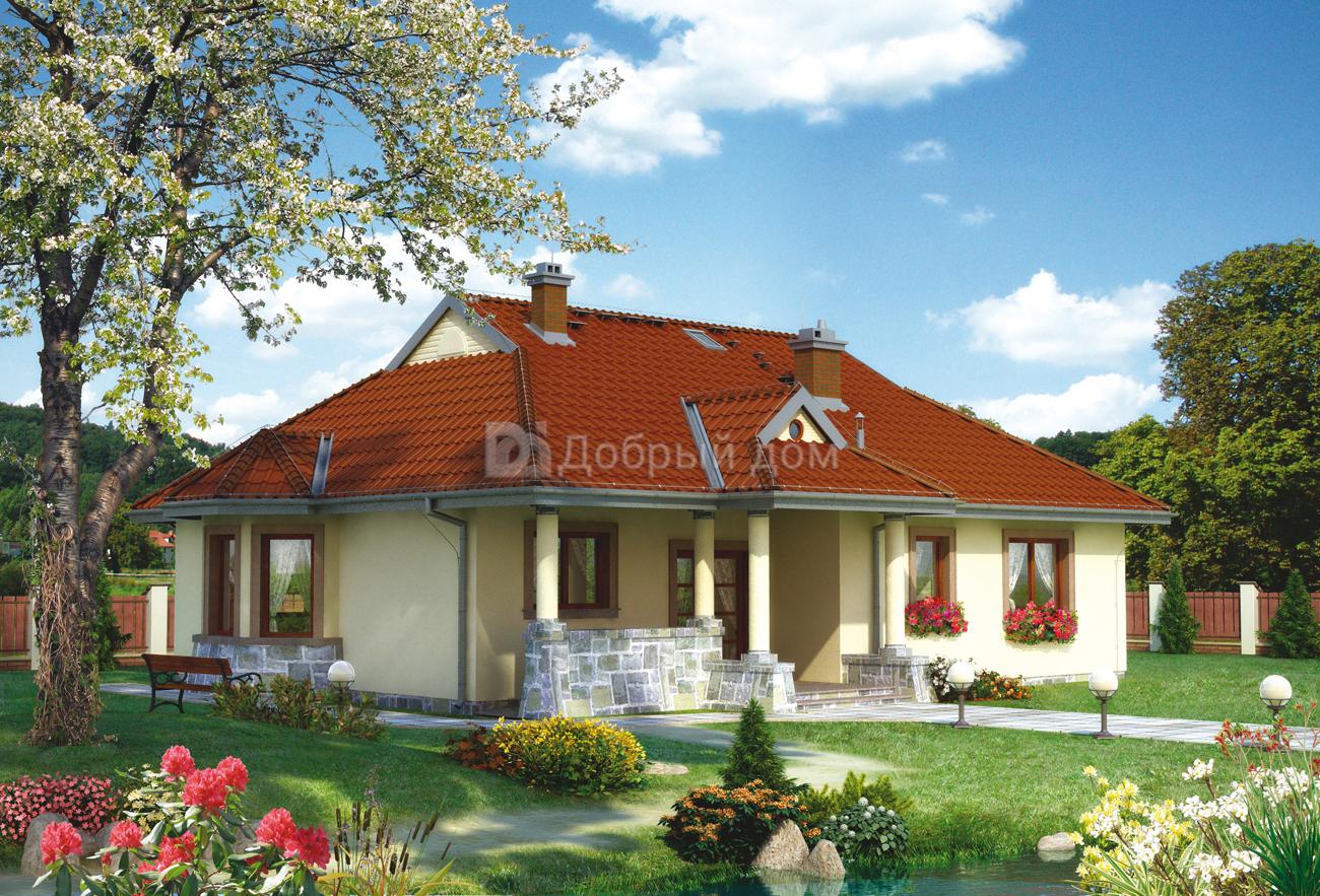 Проект дома 15,2×13,5 м. с четырехскатной крышей