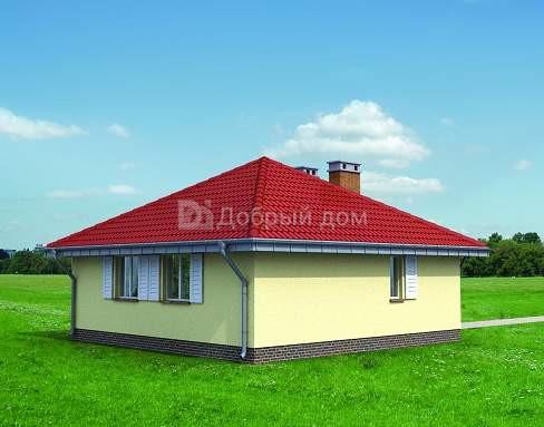 Дом 8×8 м. с четырехскатной крышей
