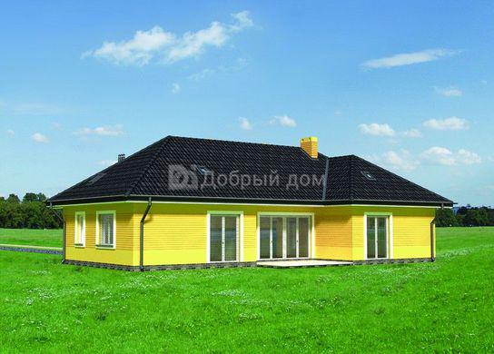 Дом 17,9×13,7 м. с четырехскатной крышей