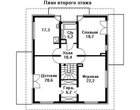 Проект дома 14,6×12,2 м. с четырехскатной крышей