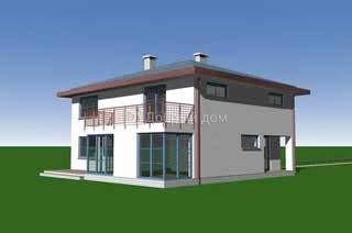 Дом 14,6×12,2 м. с четырехскатной крышей