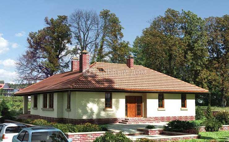 Дом 17,6×14,6 м. с четырехскатной крышей
