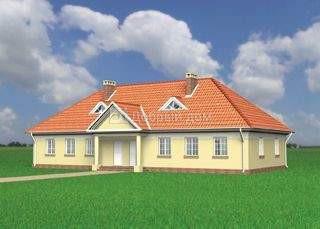 Дом 10,8×10,1 м. с четырехскатной крышей