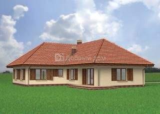 Проект дома 17,8×16,9 м. с четырехскатной крышей