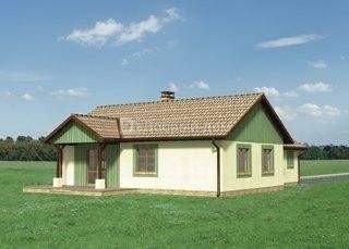 Дом 14,2×12,4 м. с двускатной крышей