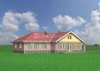 Дом 22,1×12,2 м. с четырехскатной крышей