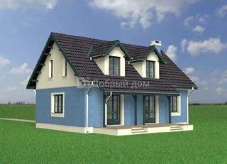 Дом 11,5×7,9 м. с мансардной крышей