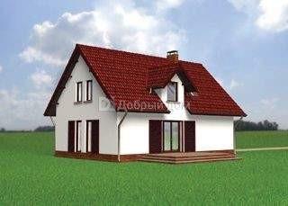 Проект дома 12,4×8,2 м. с мансардной крышей