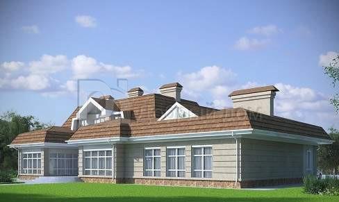 Проект дома 26×12,3 м. с мансардной крышей