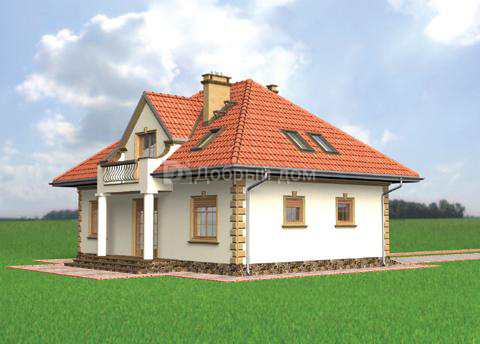 Проект дома 12,2×9,8 м. с четырехскатной крышей