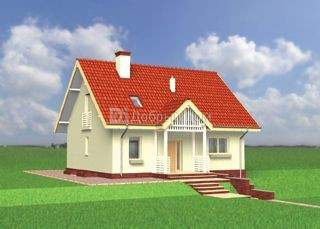 Дом 11,3×8,9 м. с двускатной крышей