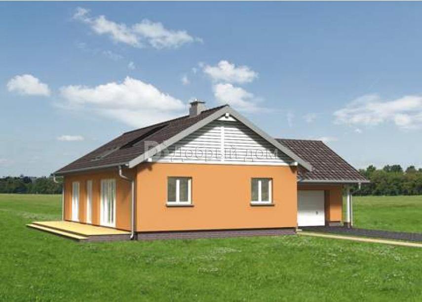 Проект дома 14,3×13,6 м. с двускатной крышей