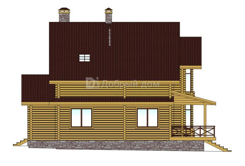 Проект дома 14.5 м х 14.28 м с двускатной крышей