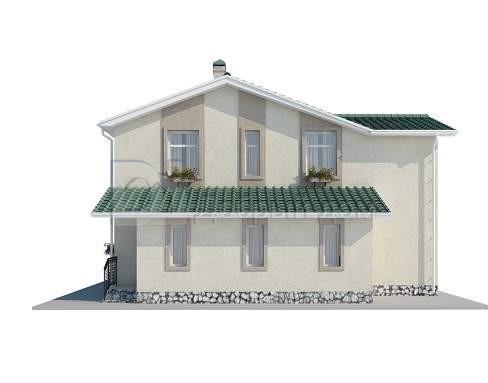 Проект дома 13,5×11 м. с двускатной крышей