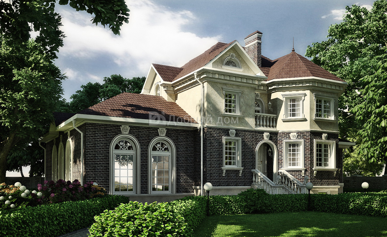 Дом 20,17×17,12 м. с мансардной крышей