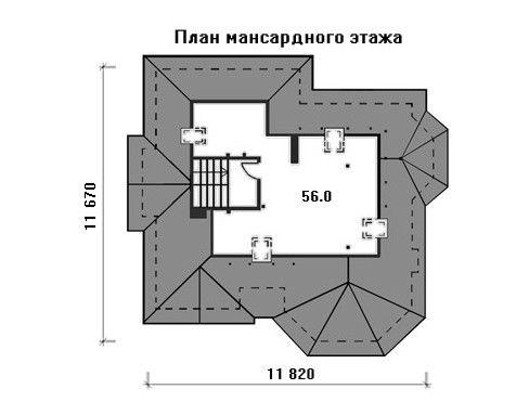 Проект дома 14,5×11,7 м. с четырехскатной крышей