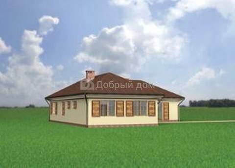 Проект дома 16,6×16,3 м. с четырехскатной крышей