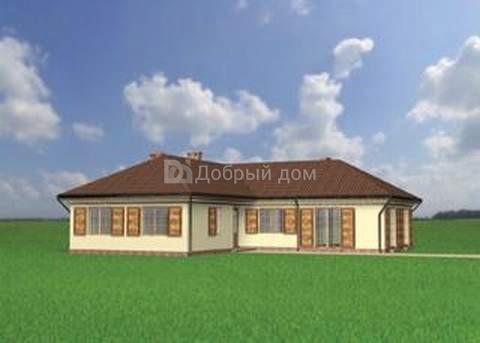 Дом 16,6×16,3 м. с четырехскатной крышей
