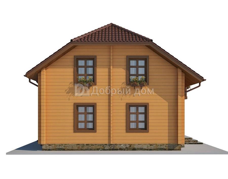 Проект дома 12 м х 8 м с мансардной крышей