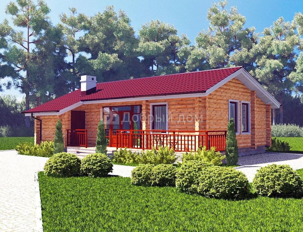 Проект дома 10.8 м х 9 м с двускатной крышей
