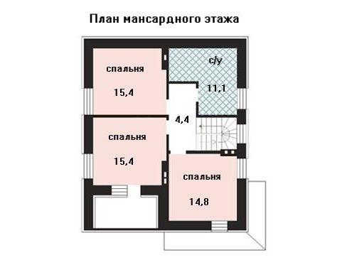Проект дома 10×8,1 м. с двускатной крышей