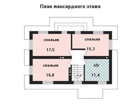Дом 11,3×8,4 м. с четырехскатной крышей