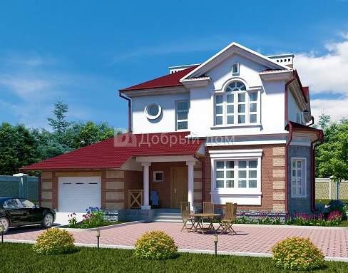 Проект дома 17,83×11,58 м. с мансардной крышей