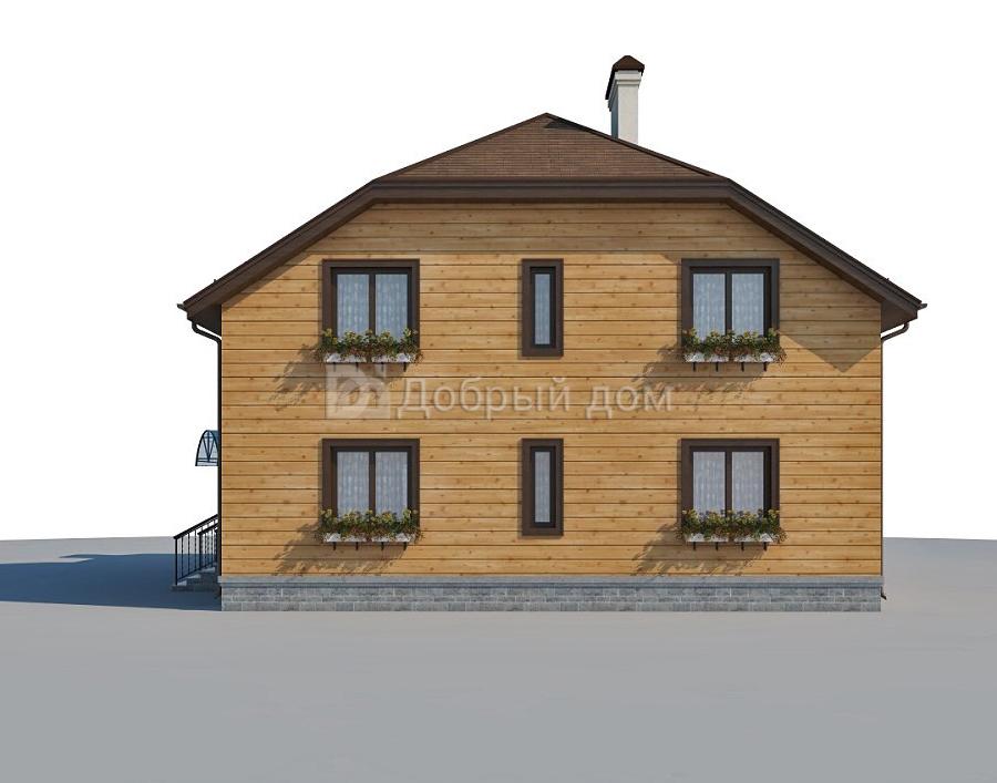 Проект дома 15 м х 11.6 м с мансардной крышей