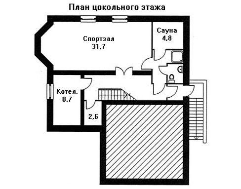 Дом 12,6×10,5 м. с мансардной крышей