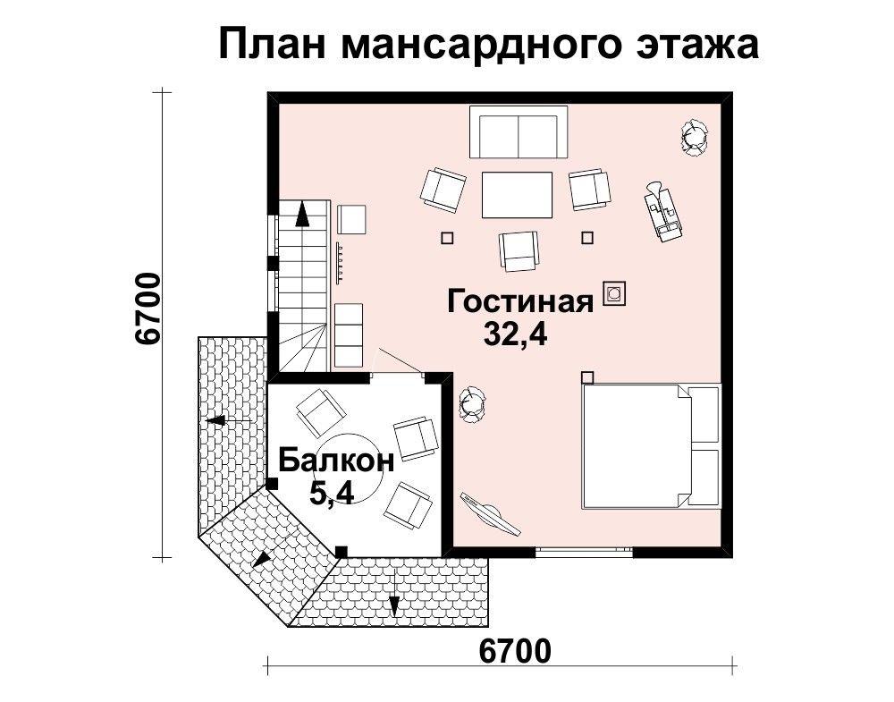 Баня 7 м × 7 м