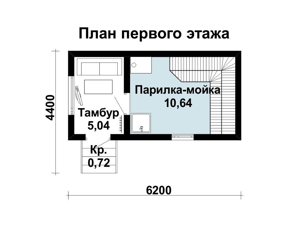 Баня 6 м × 3 м