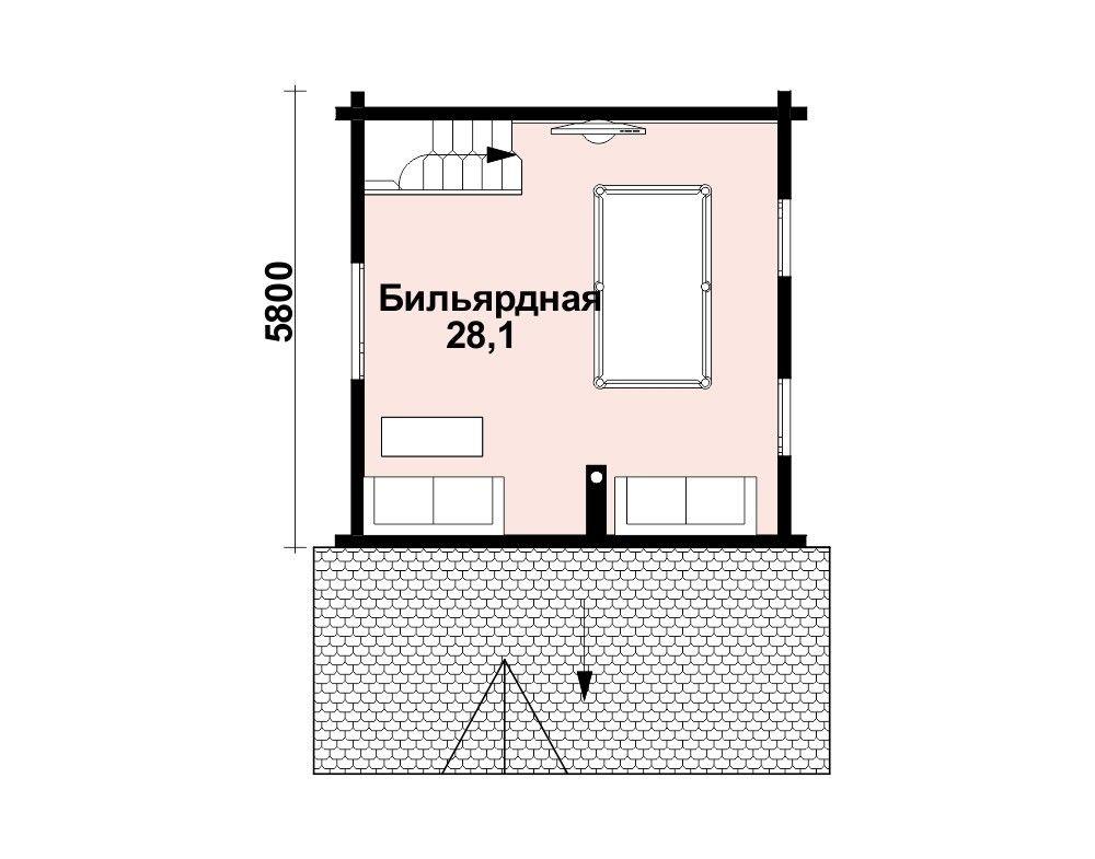 Баня 6 м × 6 м