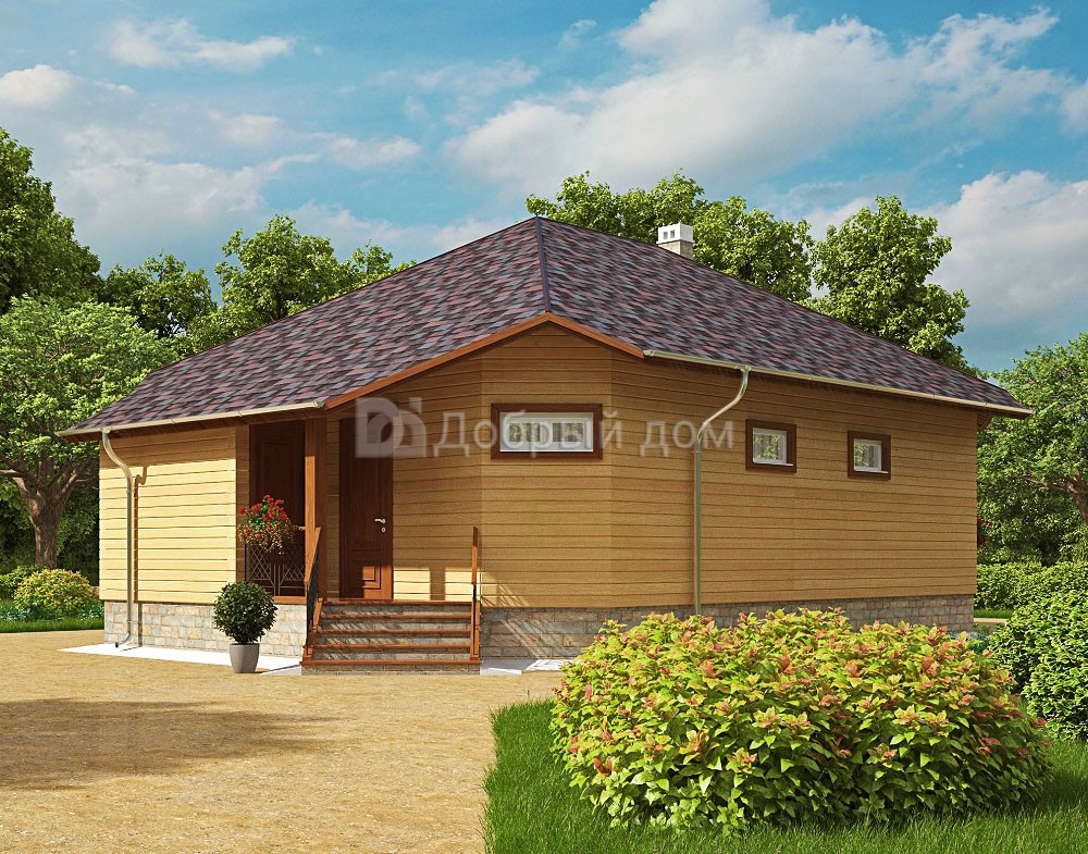 Проект дома 13.3 м х 9 м с четырехскатной крышей