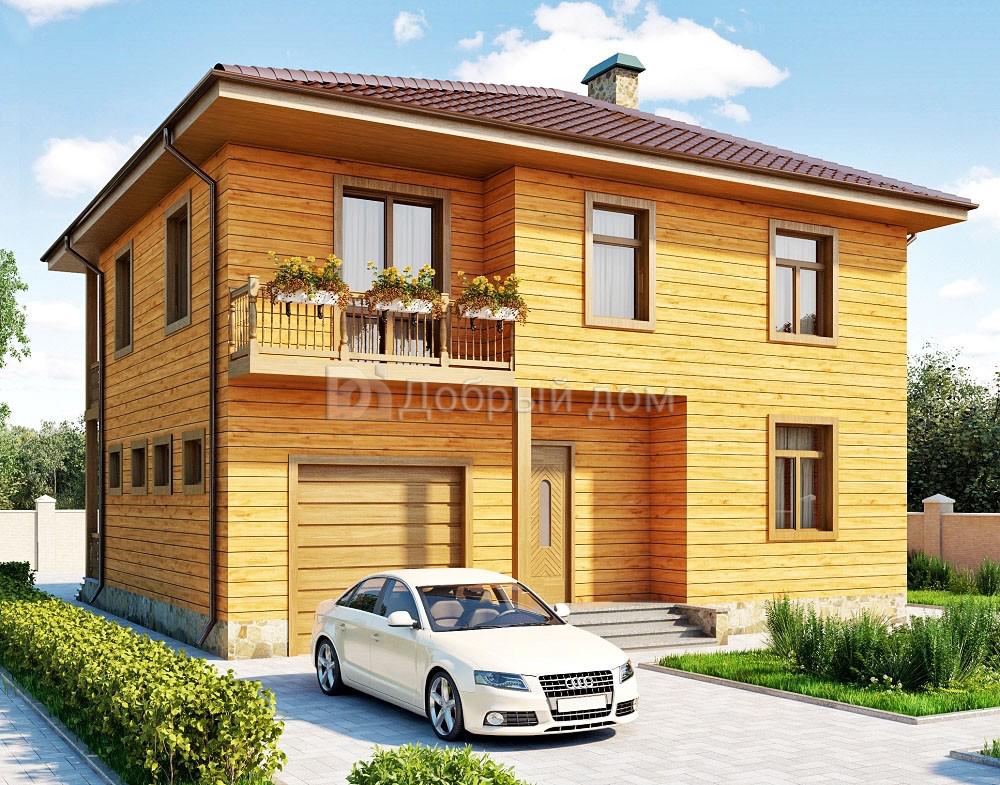 Проект дома 11.7 м х 11.2 м с четырехскатной крышей